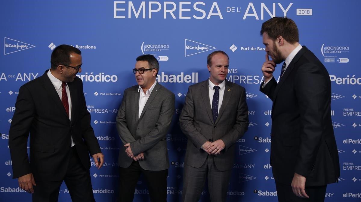 Joan Alegre, Jordi del Rio,Albert Castellanos y Antonio Asensio.