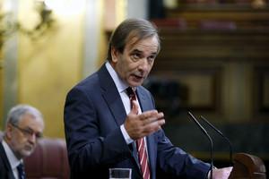 José Antonio Alonso, durante una intervención en el Congreso, en el 2011.