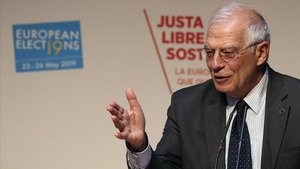 Josep Borrell, durante la convención del Partido Socialista Europeo en Madrid, este viernes.
