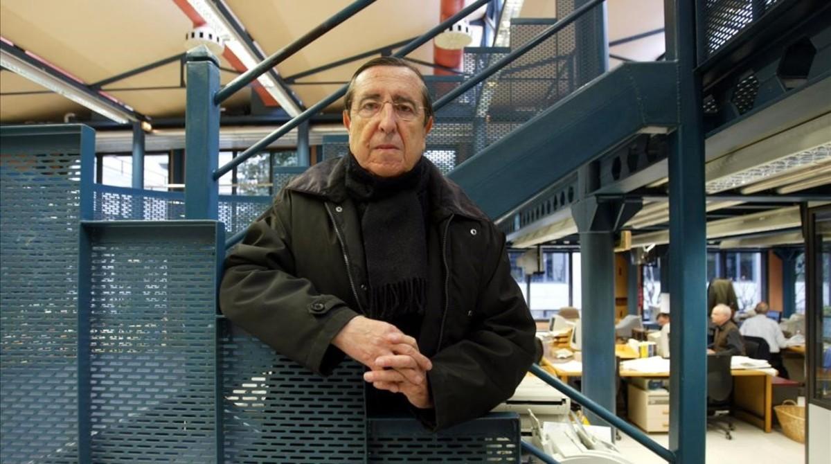 Juan Soto Viñolo, en la redacción de EL PERIÓDICO.