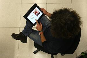 Lectura de un libro electrónico.