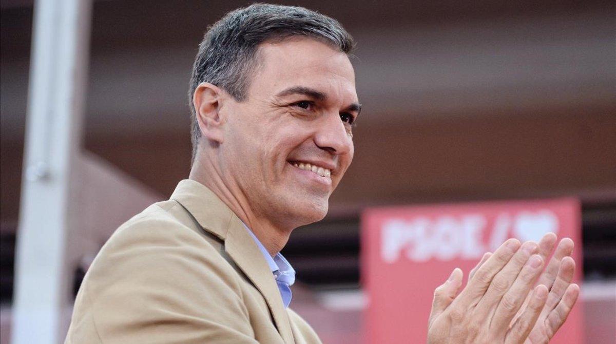 El presidente del Gobierno, Pedro Sánchez, en el acto organizado por elPSOE de Valladolid.