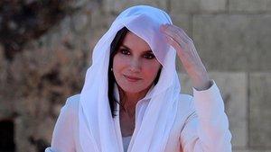 La reina Letizia, en Rabat, este jueves.
