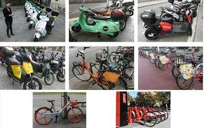 Los ocho servicios de 'bicisharing' y 'motosharing' disponibles en Barcelona.