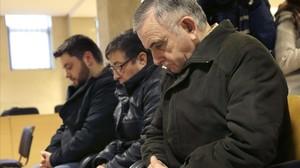 Los tres acusados por el robo del Códice Calixtino, durante el juicio.