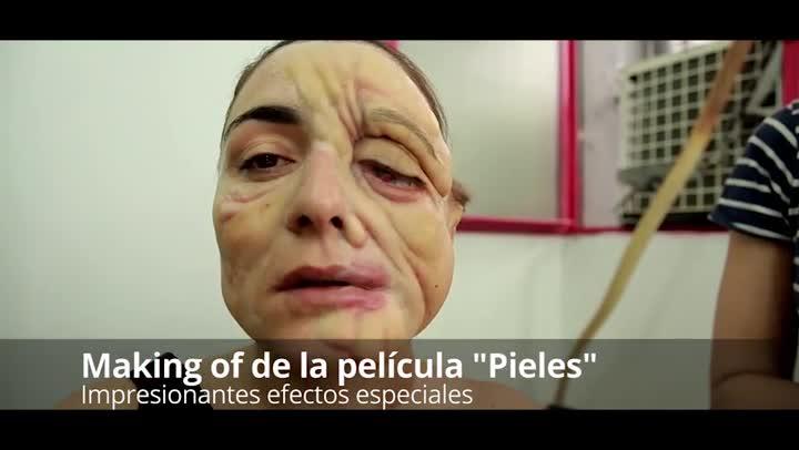 Making of de la película Pieles con impresionantes efectos especiales y caracterizaciones.