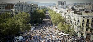 La manifestación de la Diada en Barcelona.