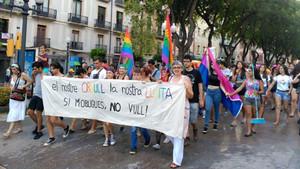 Manifestación organizadaporel colectivo Gènere Lliure el 28J del año pasado