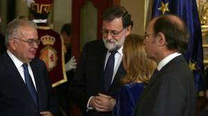 Mariano Rajoy, durante el aniversario de la Constitución, el miércoles en el Congreso.