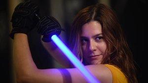 Marta Fonteseré, instructora de combates con sables de luz, en Ludosport Barcelona.