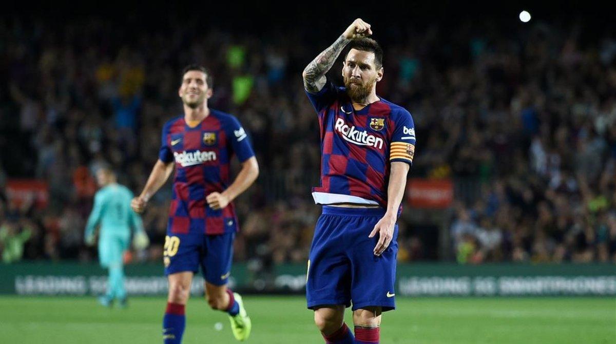 Messi marcó su primer gol del campeonato de falta.