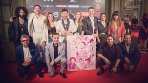 Los artistas en la 'Gala Miguel Poveda & Amigos – Música para la investigación'.
