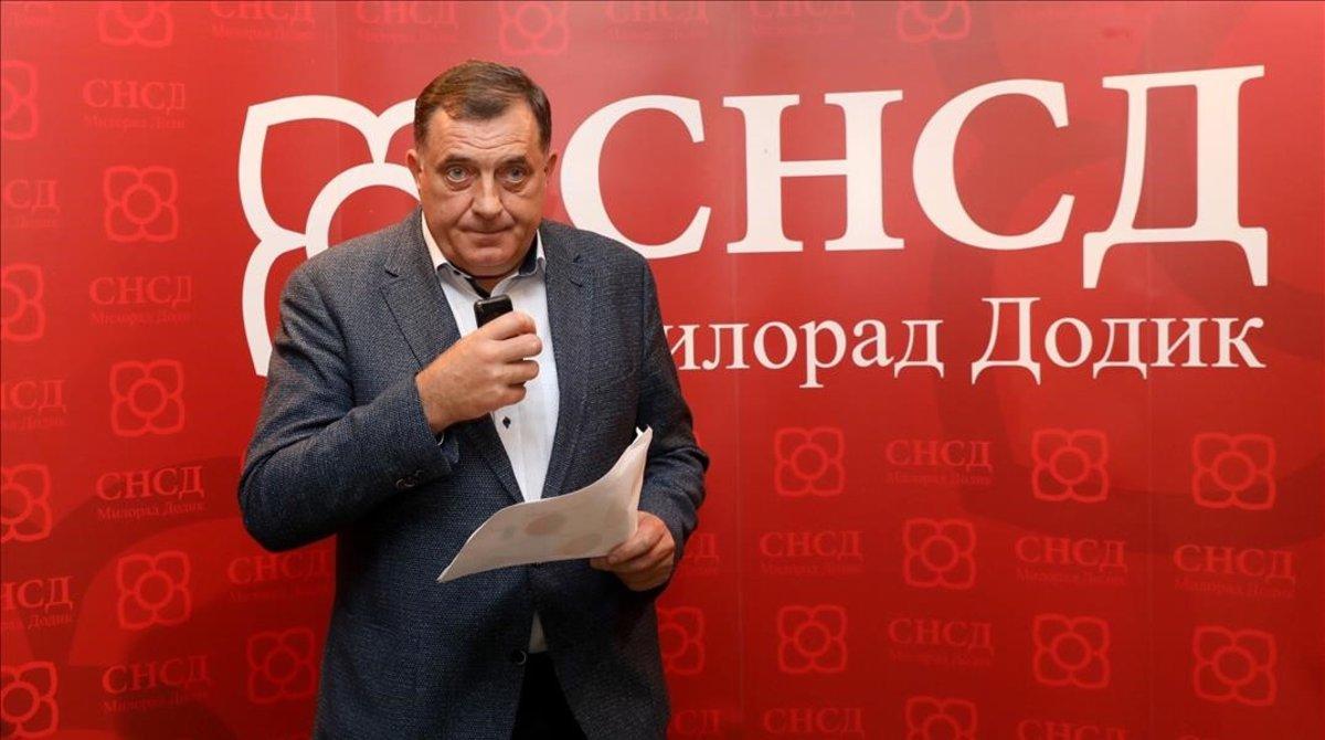 Milorad Dodik, el nacionalista serbio elegido para la presidencial colegiada.