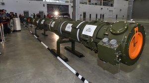 El misil 9M729 que ha presentado el Gobierno de Rusia.