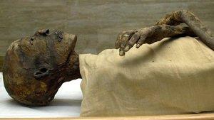 La momia del faraón Ramsés IV, conservada en El Cairo.