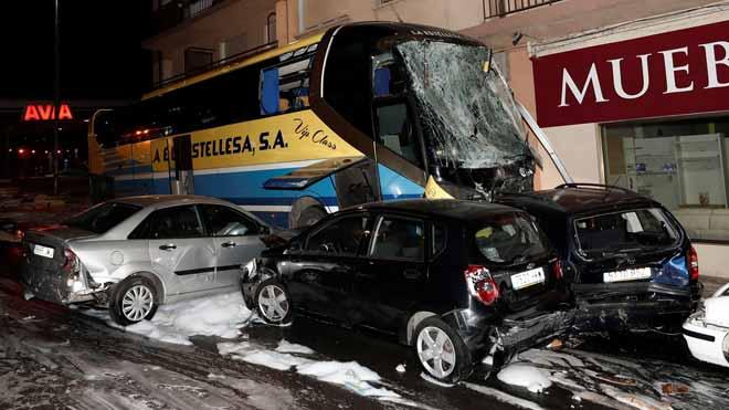 Mor el germà de la nena morta per l'autobús sinistrat a Navarra