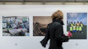 Muestra del arte del proyecto Umbral en el Metro de Barcelona.