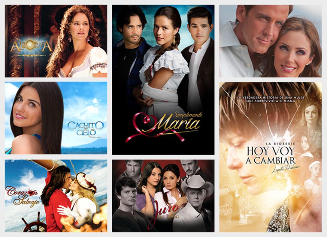 Muestra del catálogo de telenovelas de la plataforma Novelas Nova