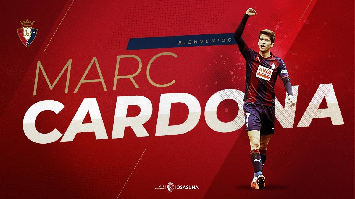 Osasuna anuncia el fichaje de Marc Cardona.