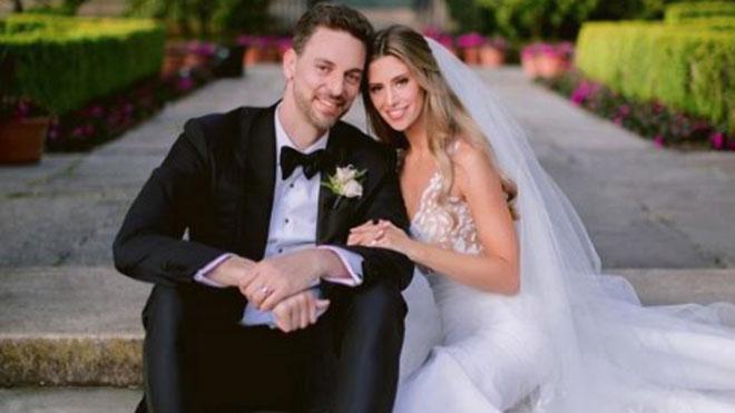Pau Gasol y Catherine McDonnell publican la primera imagen de su boda.