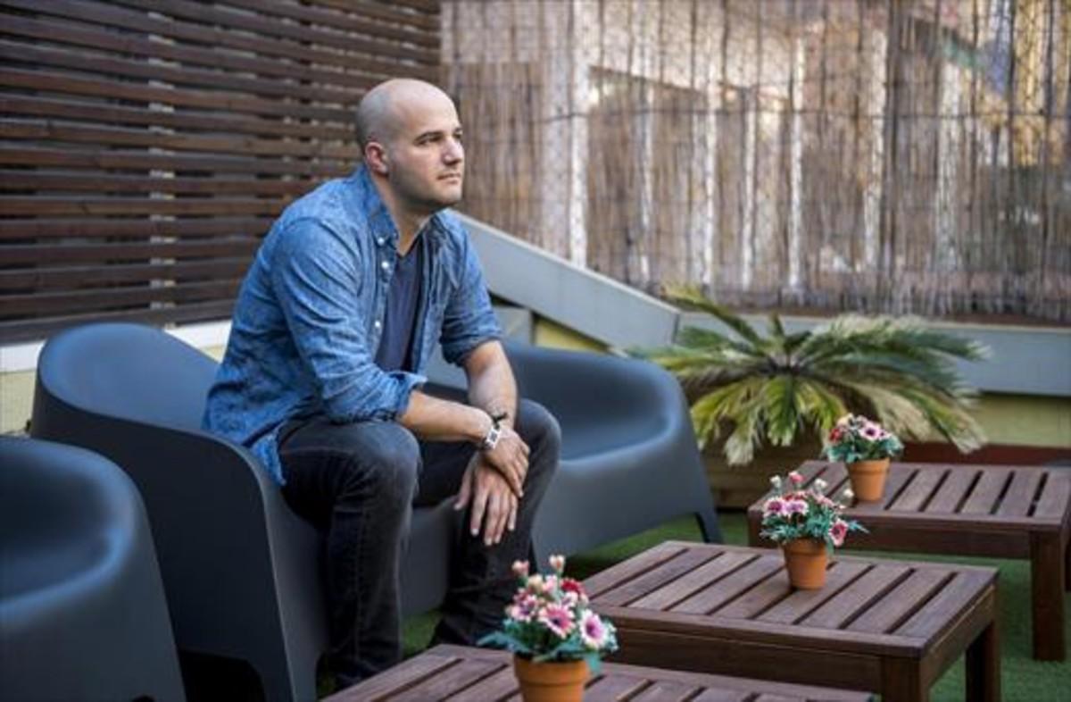 El periodista Stephen Witt, hace unos días, en Barcelona.