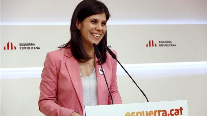 La portavoz de ERC, Marta Vilalta, explica la postura del partido sobre la investidura de Sánchez.