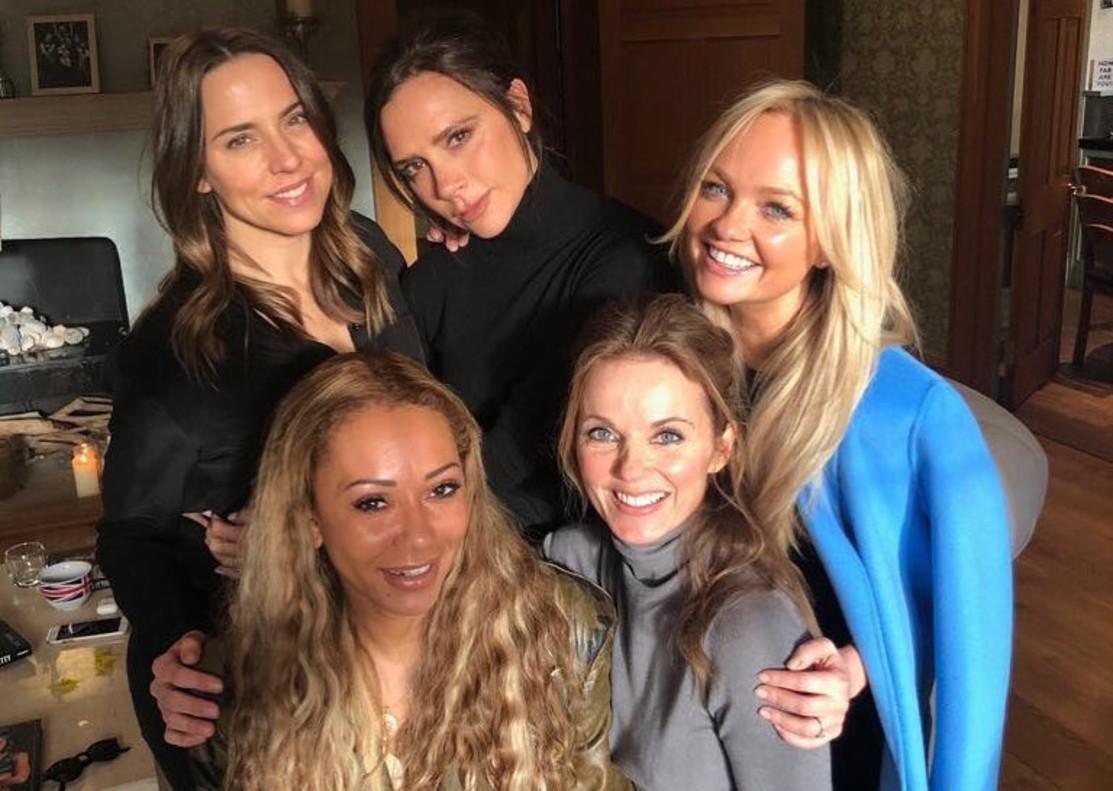 Reunión de las Spice Girls, en una foto del perfil de Instagram de Victoria Beckham.