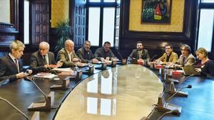 Reunión de la Mesa del Parlament.