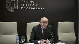 Miguel Ángel Gimeno, director de la Oficina Antifrau de Catalunya, en la sede del organismo.