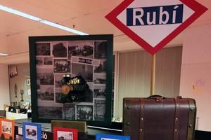 Commemoracióde l'arribadadel tren a Rubí fa 100 anys.