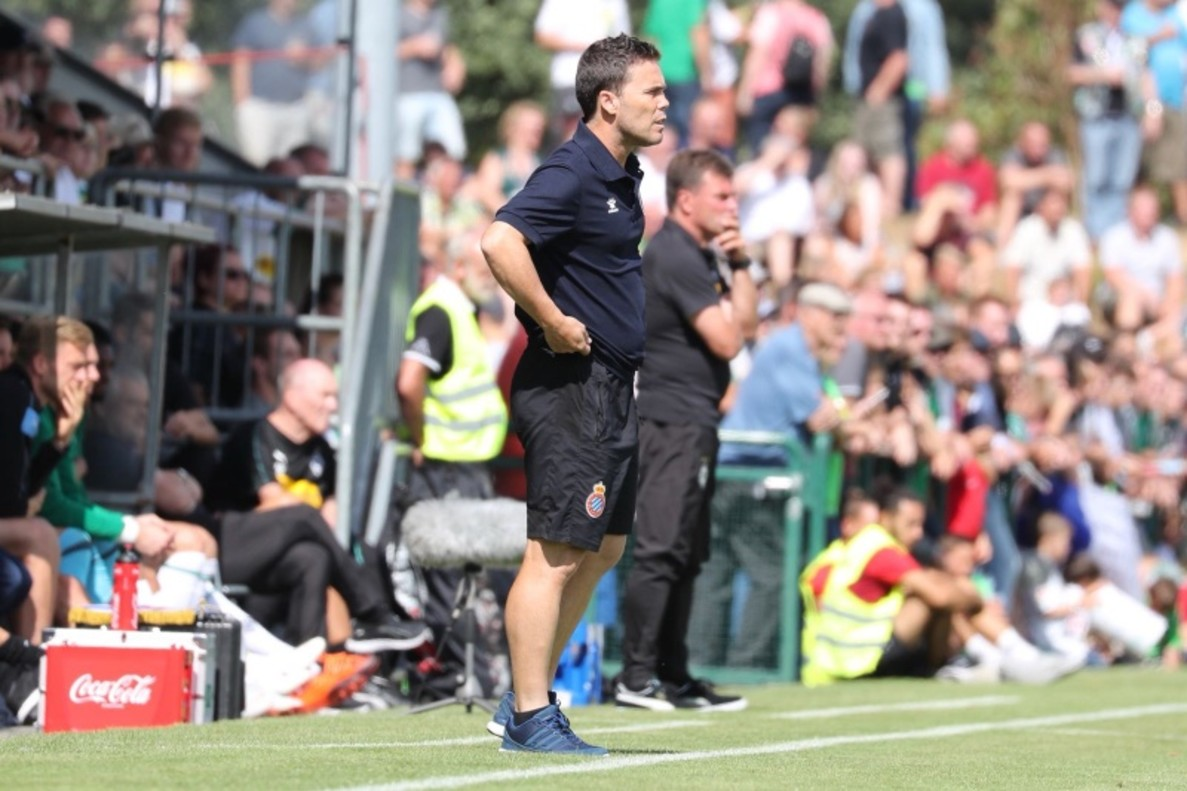 Rubi, entrenador del Espanyol, durante la pretemporada.