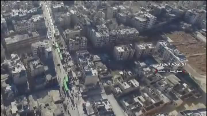 Evacuación de civiles de Alepo.