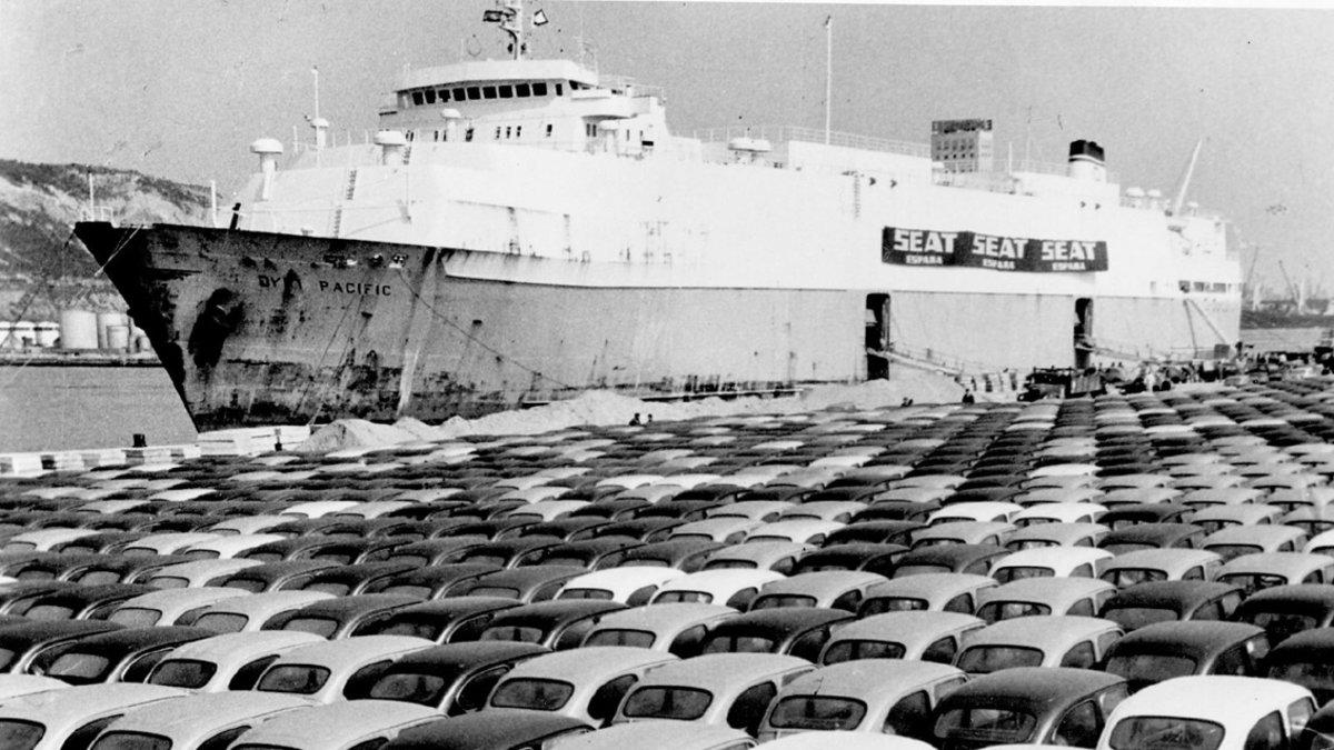 Exportacion Seat 600 a Finlandia en 1970.