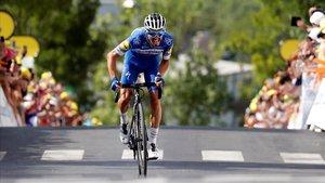 Julian Alaphilippe, héroe del ciclismo francés en el Tour del 2019.