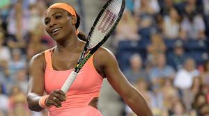 Serena Williams, durante el partido contra Monica Niculescu, en el regreso de la estadounidense a Indian Wells.