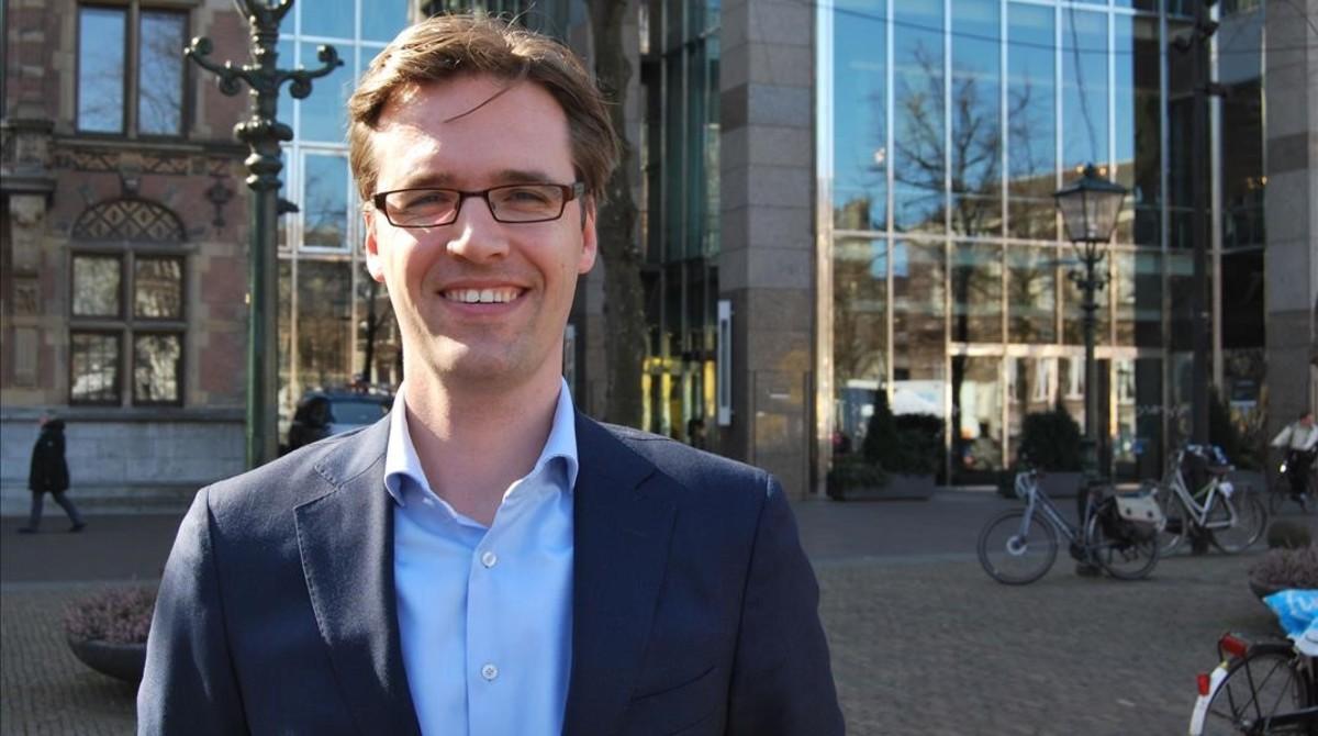 Sjoerd Sjoerdsma, jefe de campaña y portavoz de asuntos exteriores del partido neerlandés D66.