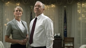 Robin Wright y Kevin Spacey, la pareja protagonista de la serie estadounidense 'House of cards'.