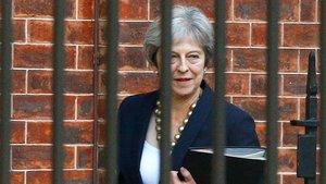 La primera ministra británica, Theresa May, este lunes en Londres