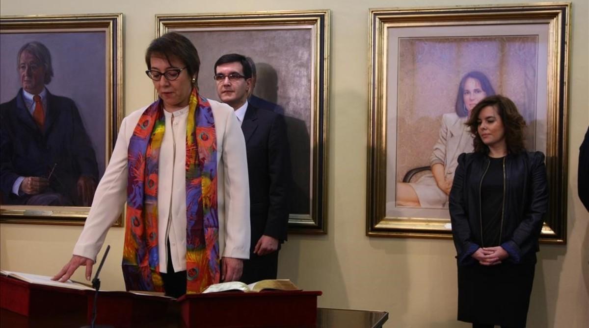 La toma de posesión de la secretaria de Estado de comunicación, Carmen Martínez Castro.