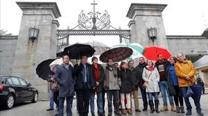 Una delegación del PSOE se ha trasladado este miércoles al Valle de los Caídos.