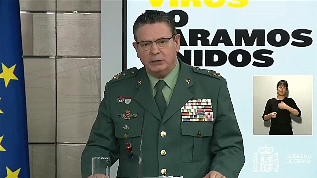 Laurentino Ceña, teniente general director operativo de la Guardia Civil.