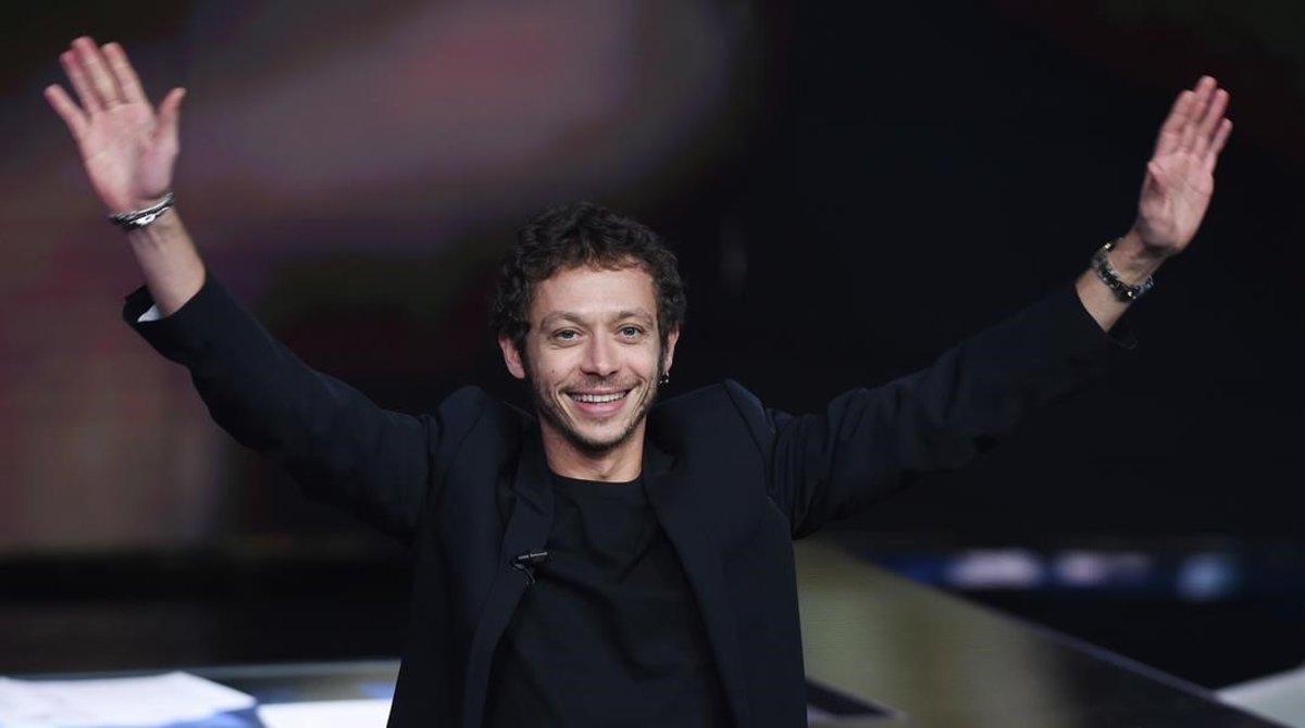 Valentino Rossi, anoche, en el programa de RAI1 'Che tempo che fa'.