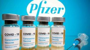 Viales de Pfizer de la vacuna para el coronavirus.