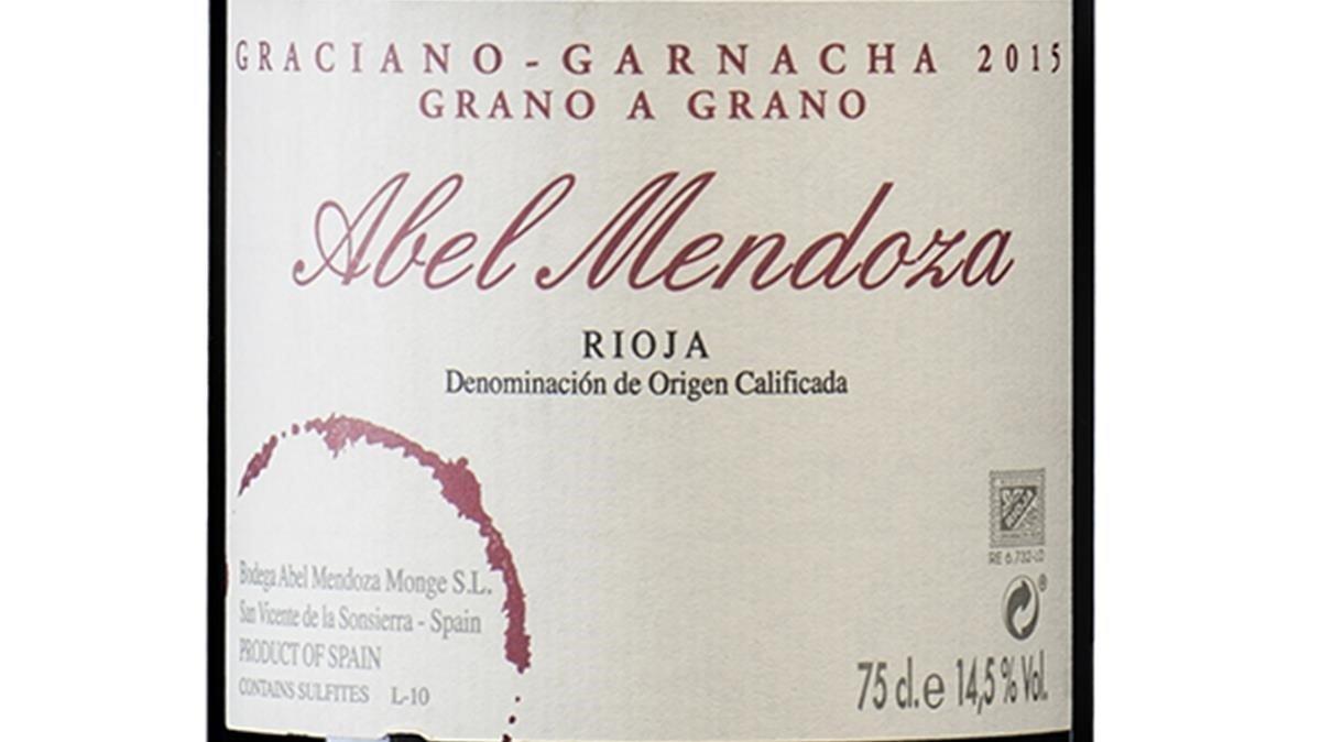 Vino Graciano-Granacha Grano a Grano 2015, de la bodega Abel Mendoza.
