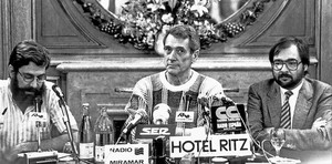 visita con susto a barcelona. En octubre de 1984, justo un año antes de morir, el actor acudió al programa 'Àngel Casas Show'. El espacio, que se emitía en directo, tuvo que suspenderse por una amenaza de bomba atribuida al GRAPO. Tras la revisión del local, el programa fue grabado y se emitó días más tarde,