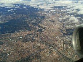 Vista aérea de la ciudad de Madrid.
