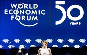 Ursula von der Leyen en elForo Económico Mundial de Davos.