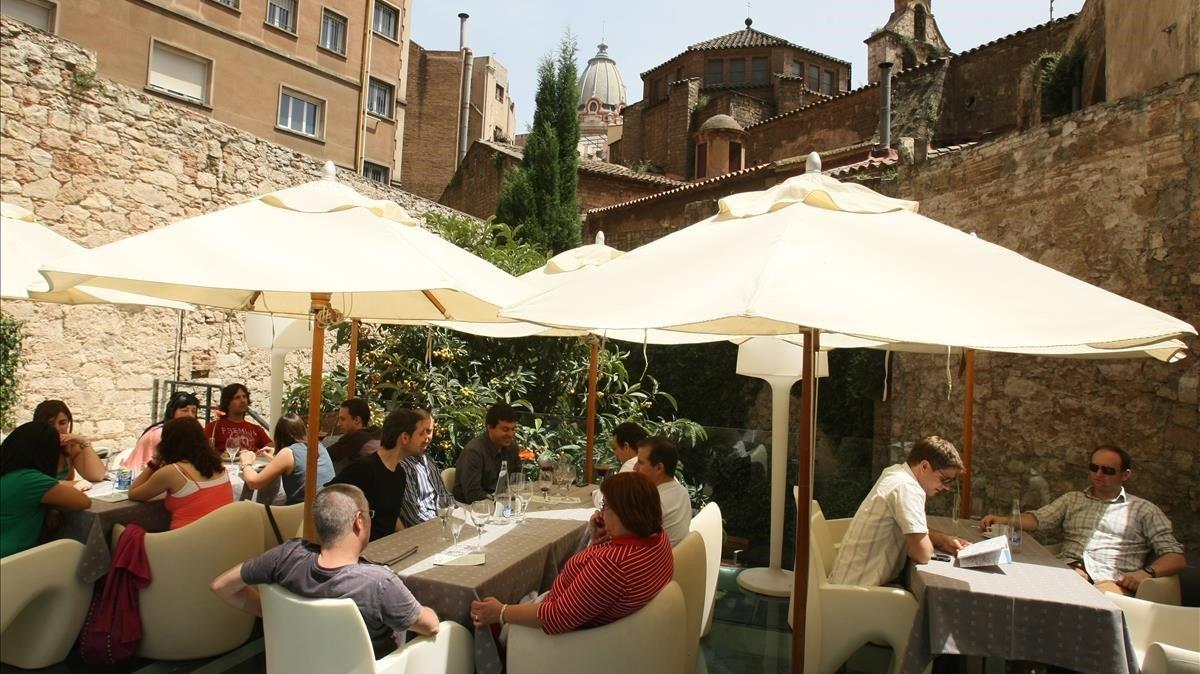 Terraza del Hotel Olivia de Barcelona.