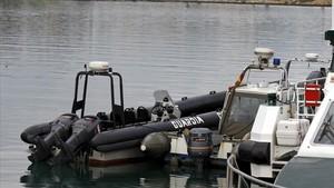 Narcolancha incautada por la Guardia Civil de Algeciras a narcotraficantes.