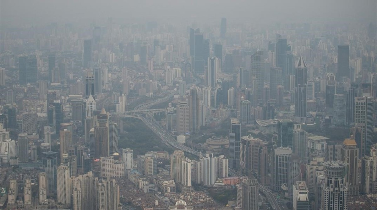 Contaminación en un barrio residencial de la ciudad china de Shanghái.